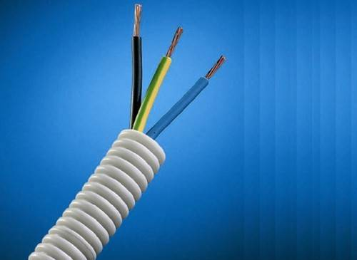 Монтаж кабеля в трубах