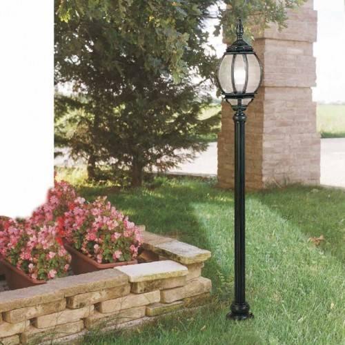 Монтаж уличного светильника на опоре