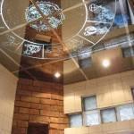 Монтаж декоративного зеркального потолка