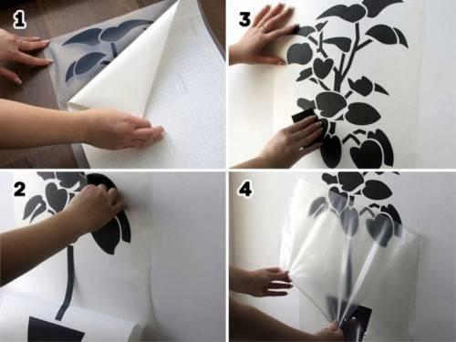 Как наклеить виниловую наклейку на стену