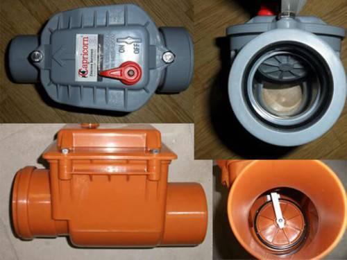 Как установить обратный клапан на канализацию