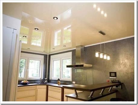 Недостатки натяжных потолков на кухне