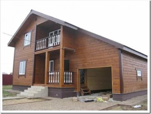 Дом из профилированного бруса с гаражом