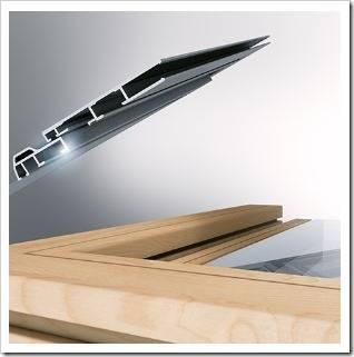 Дерево-алюминиевые окна производства Unilux