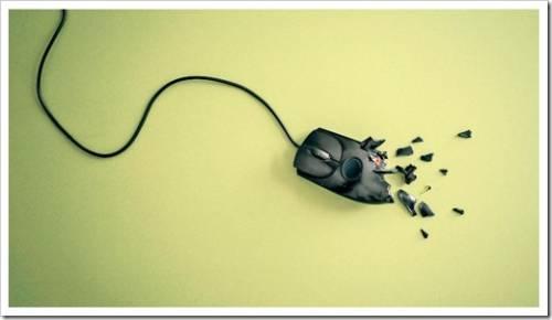 разбитая мышка